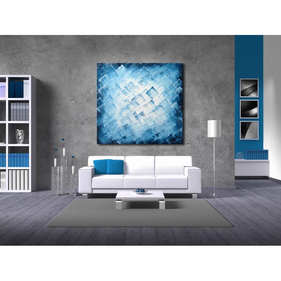 Quadro dipinto a mano: Blue light 286