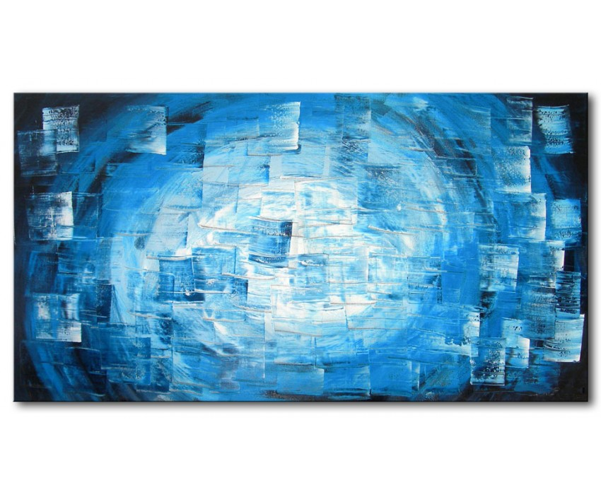 Quadro dipinto a mano: Blue light 284