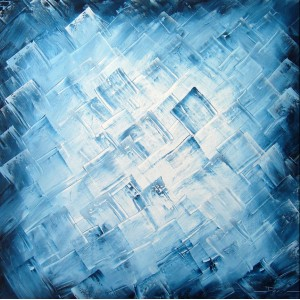 Quadro dipinto a mano: Blue light 286