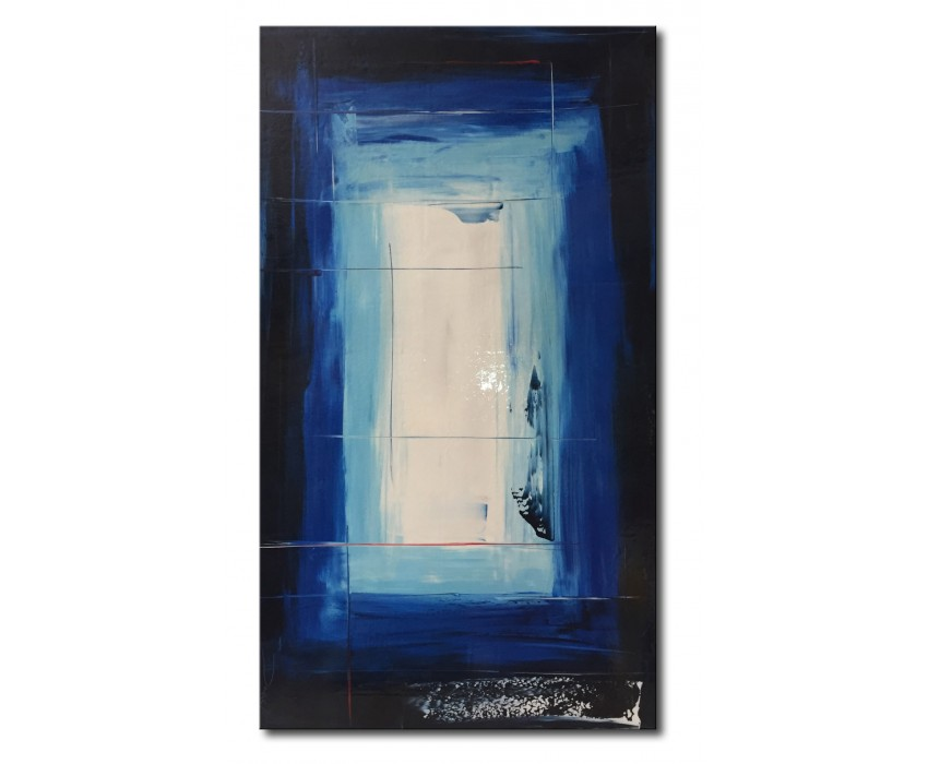 Quadro dipinto a mano: blue light 738