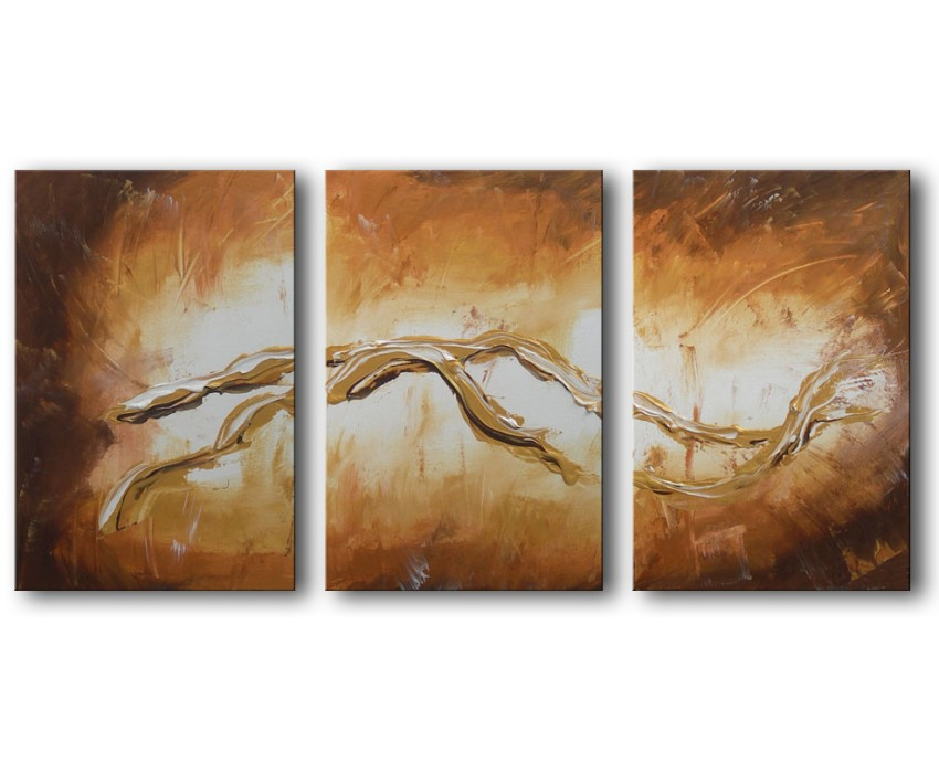 Quadro dipinto a mano: Gold light 123