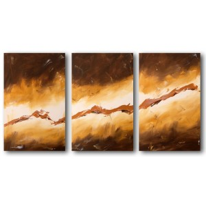 Quadro dipinto a mano: Gold light 124