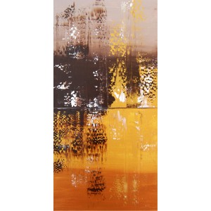 Quadro dipinto a mano: Gold light 131