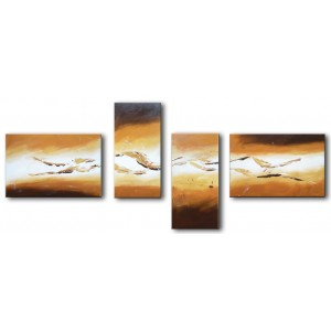 Quadro dipinto a mano: Gold light 326