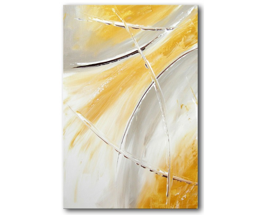 Quadro dipinto a mano: Gold light 428