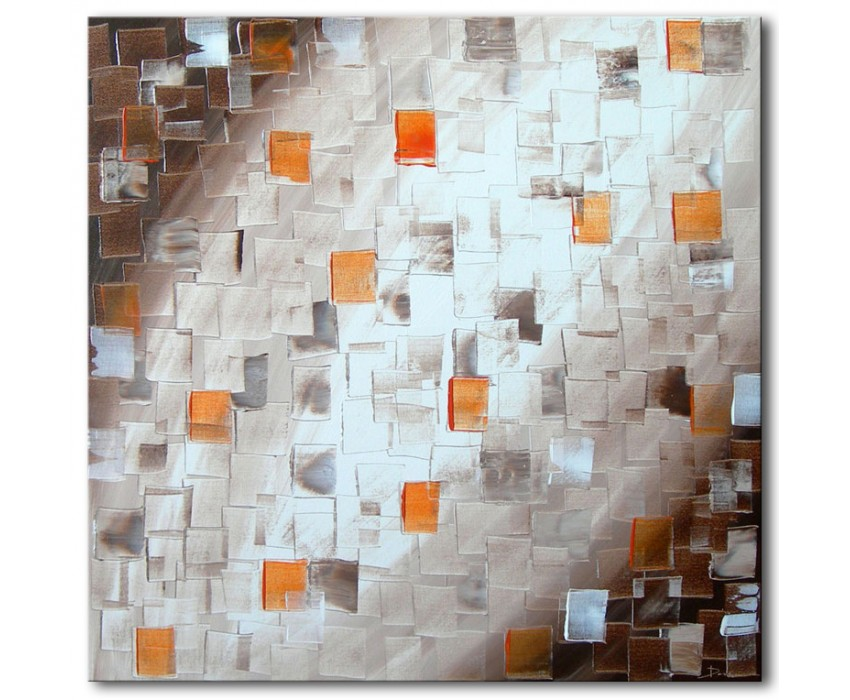 Quadro dipinto a mano: brown light 403