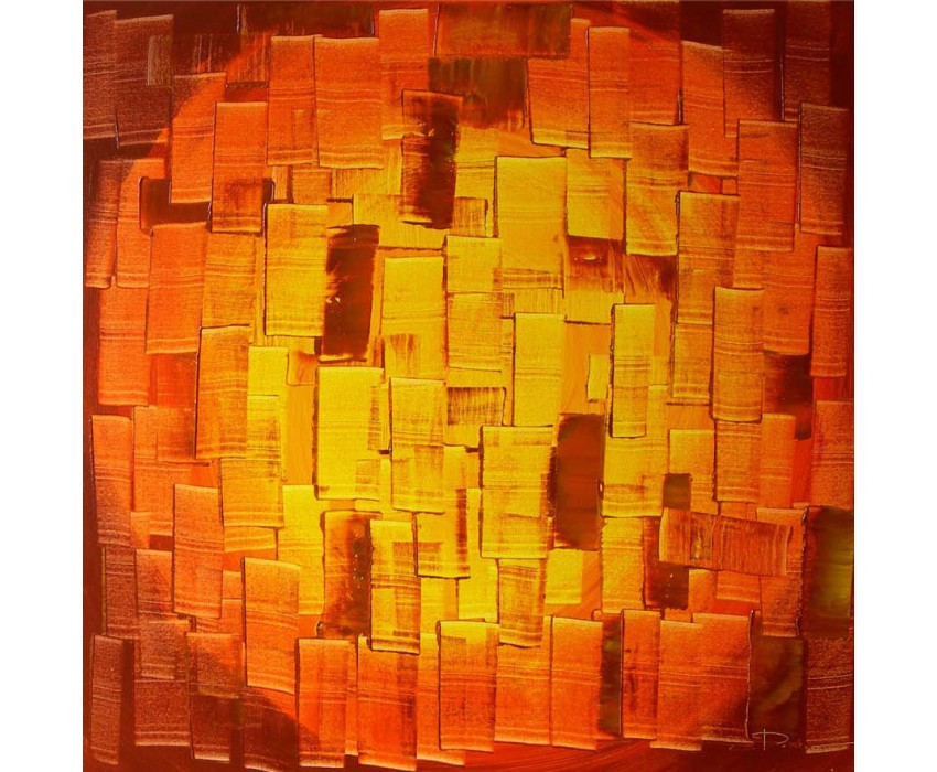 Quadro dipinto a mano: Orange light 126