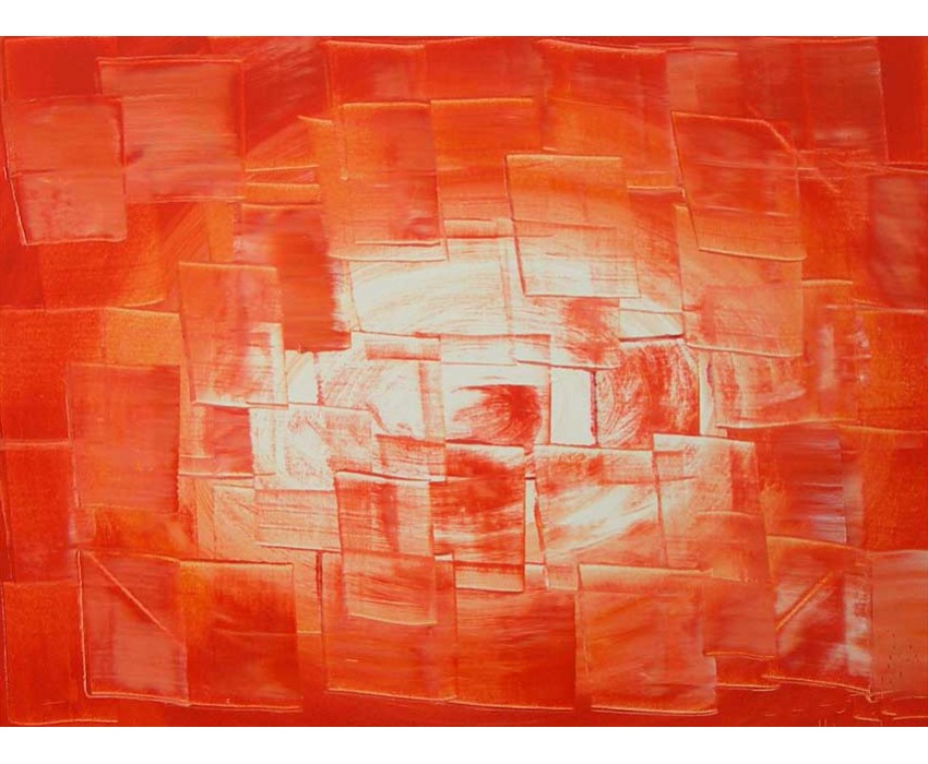 Quadro dipinto a mano: Orange light 127