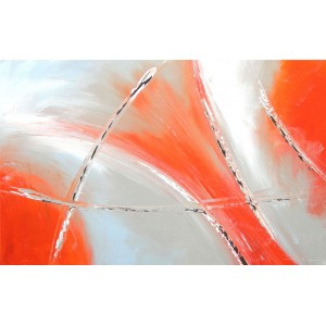 Quadro dipinto a mano: Orange light 128