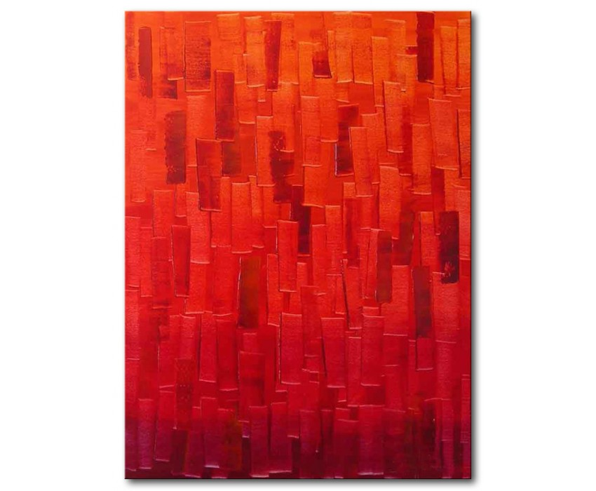 Quadro dipinto a mano: Orange light 331