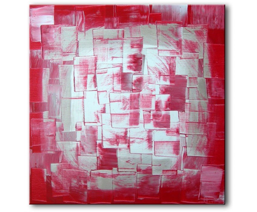 Quadro dipinto a mano: Red light 145