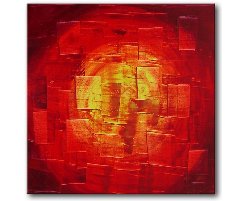 Quadro dipinto a mano: Red light 146