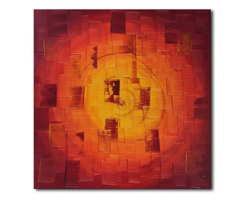 Quadro dipinto a mano: Red light 739