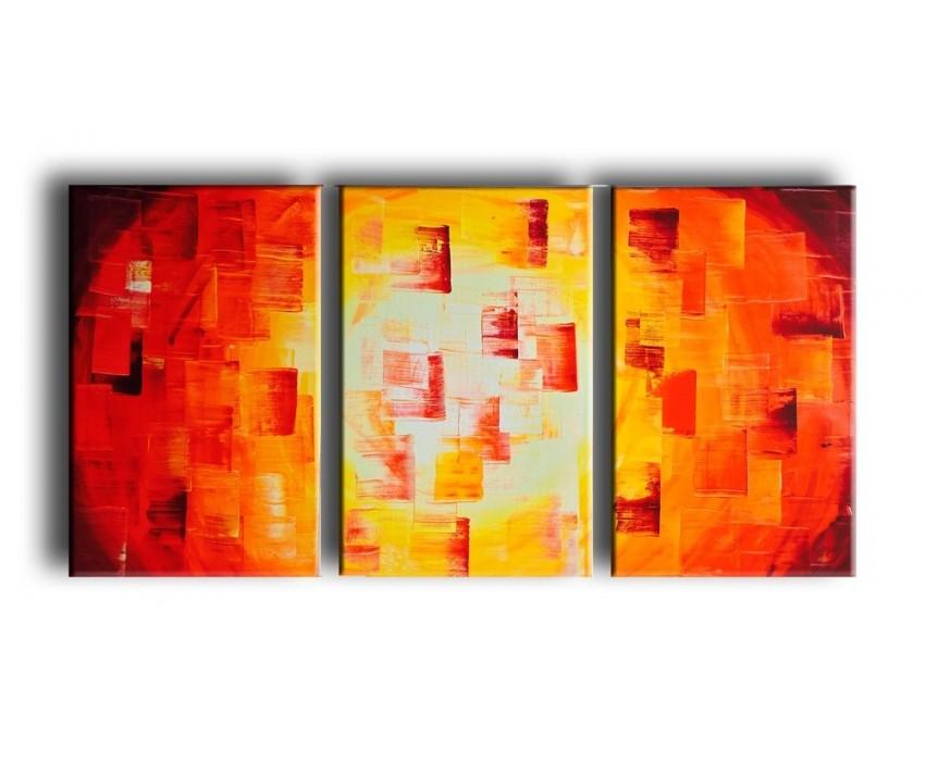 Quadro dipinto a mano: Red light 775