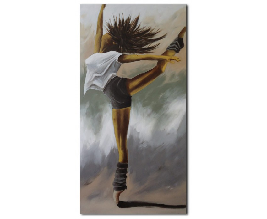 Quadro dipinto a mano: Danza esplosiva 636