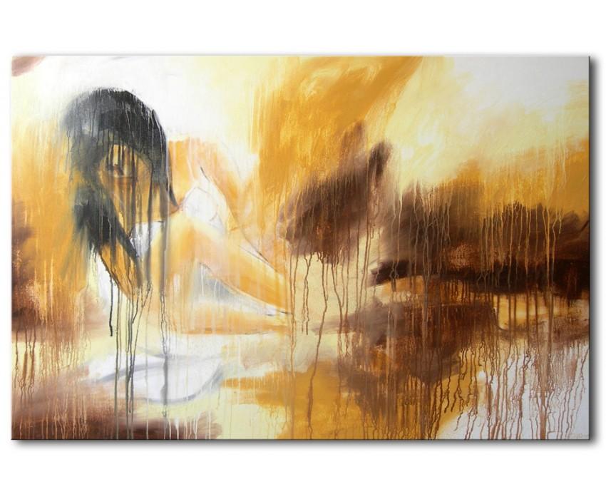 Quadro dipinto a mano: La pausa 224