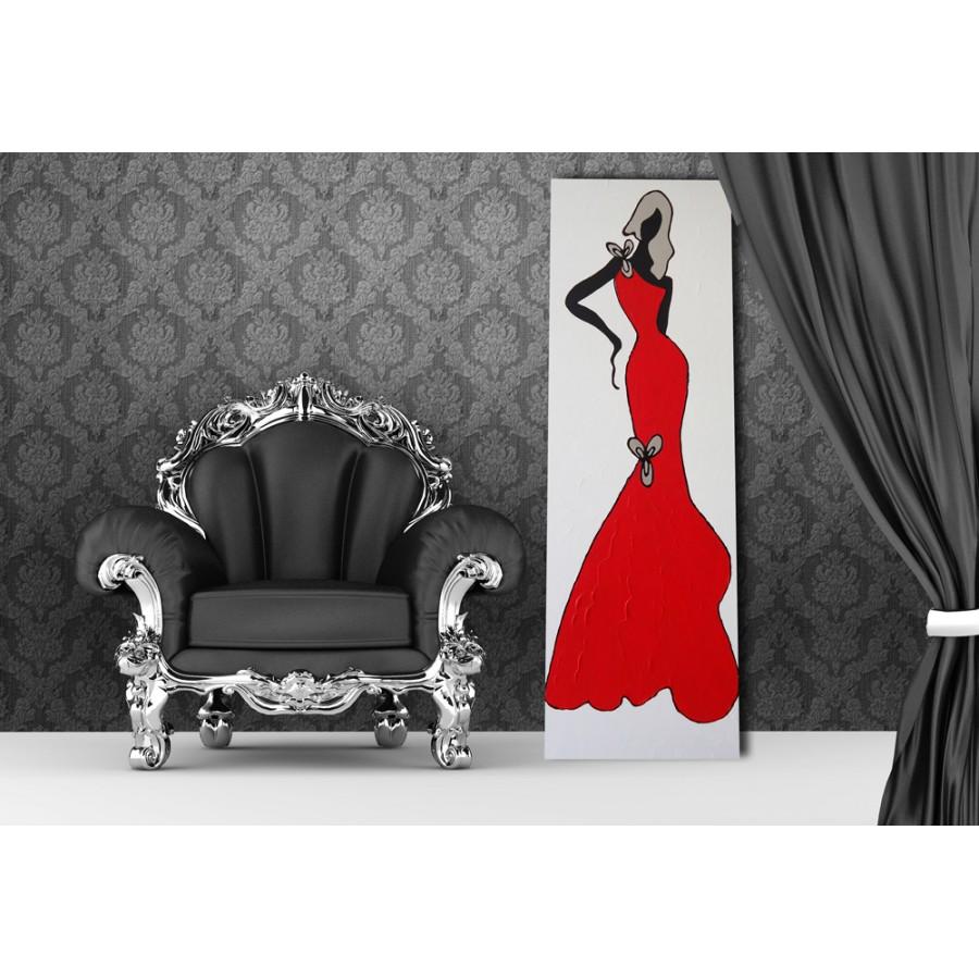 Quadro dipinto a mano glamour 630 for Quadri astratti moderni verticali