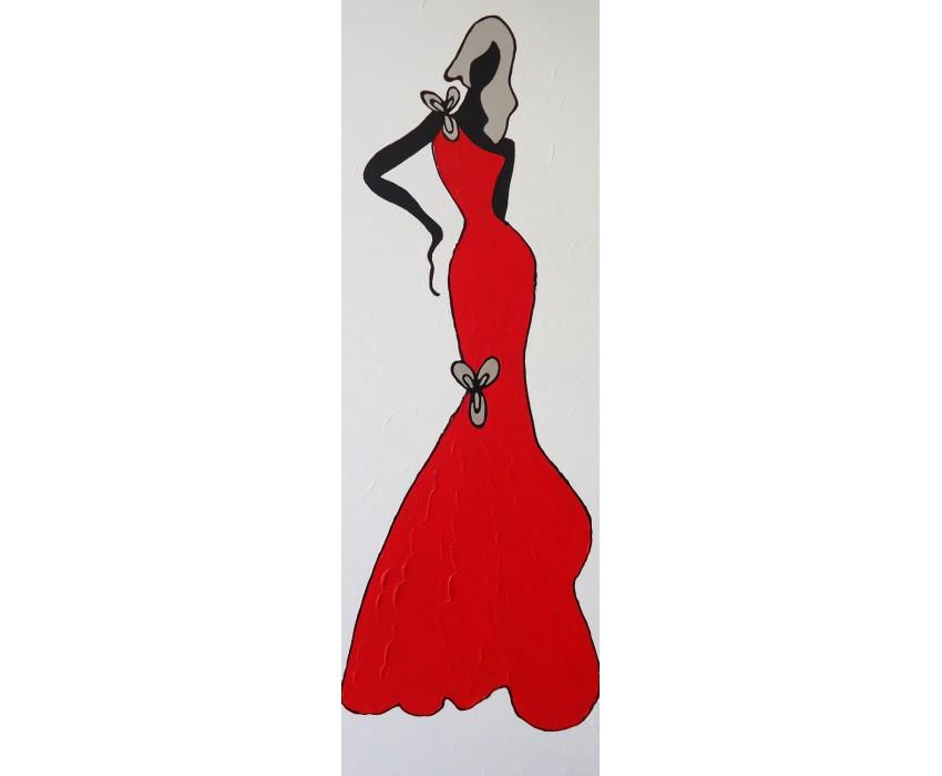 Quadro dipinto a mano: Glamour 630