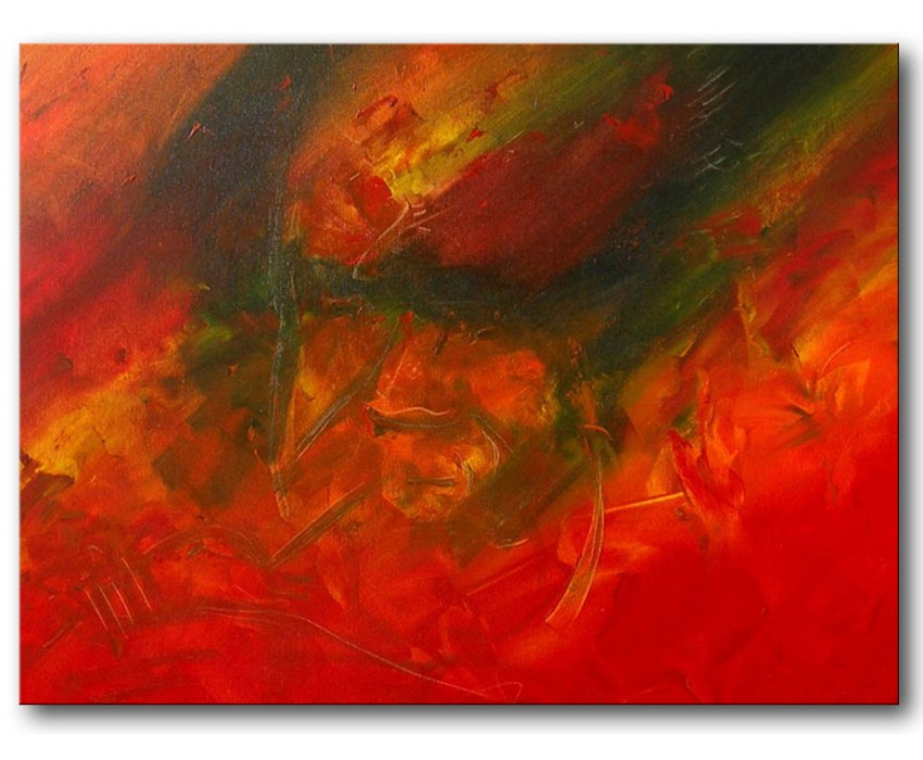 Quadro dipinto a mano: Trombettista 234