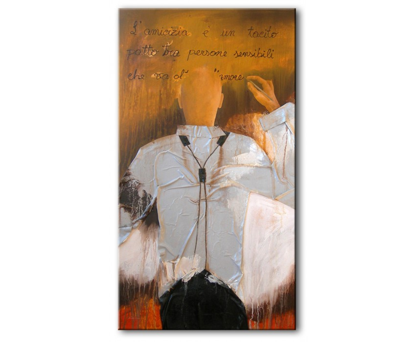Quadro dipinto a mano: Il Poeta