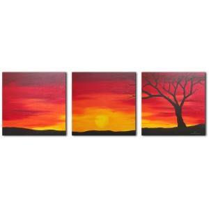 Quadro dipinto a mano: Tramonto 170