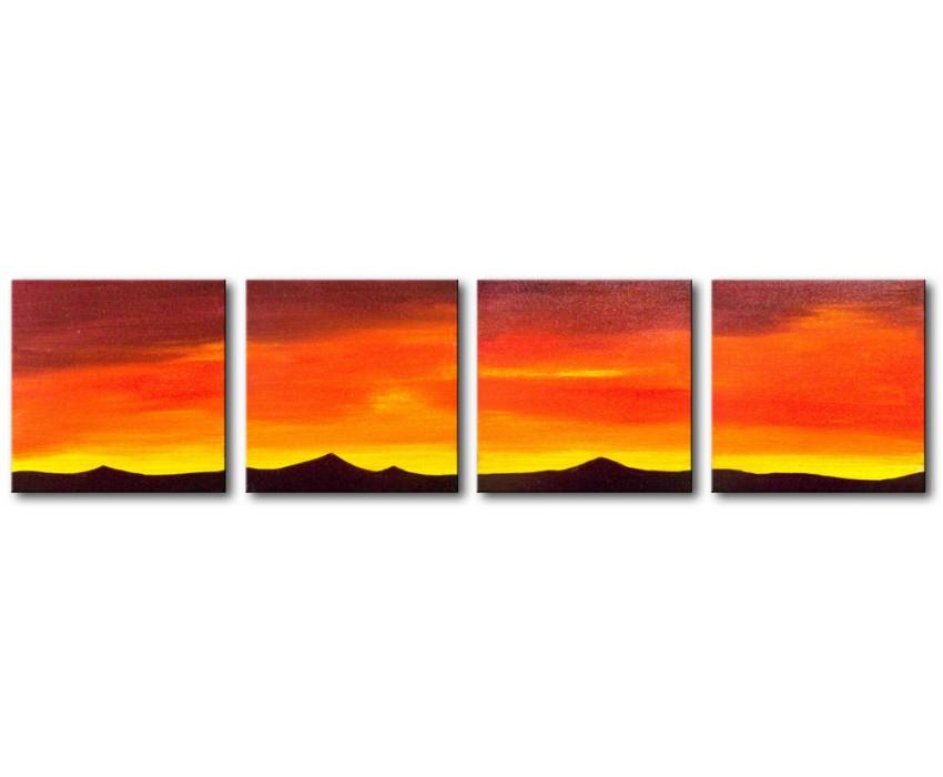 Quadro dipinto a mano: Tramonto 179
