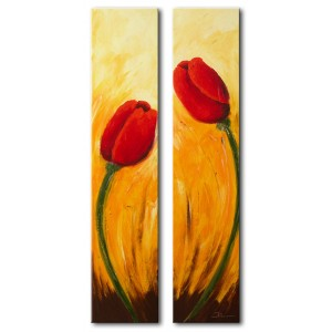 Quadro dipinto a mano: Tulipani 218