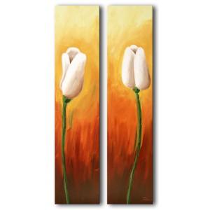 Quadro dipinto a mano: Tulipani 219