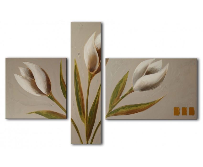 Quadro dipinto a mano: Tulipani 687